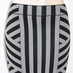 BCBG MAX AZRIA SCARLETT striped Skirt XS